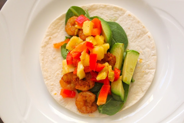 Spicy Shrimp Tacos with Pineapple Salsa | Non-Vegetarian Recipes | Pi ...