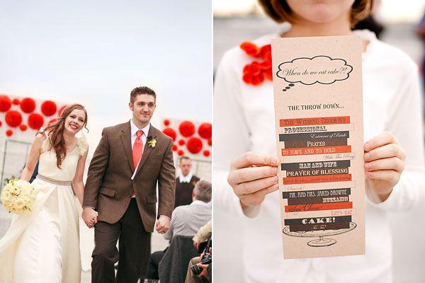 Book Themed Wedding Programs