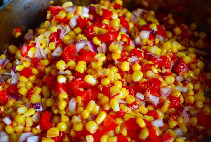 "When you think about corn relish, you probably think ""that's so ..."