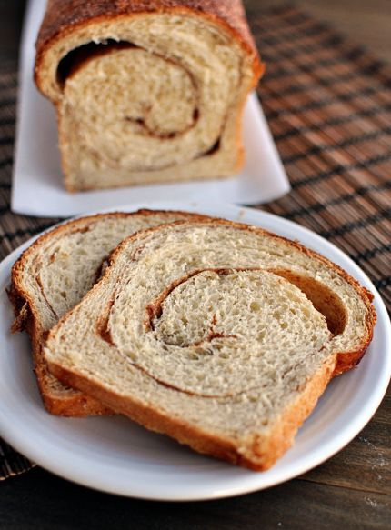 Cinnamon Swirl Bread. Used 1/2 whole wheat flour. Absolutely delicious ...