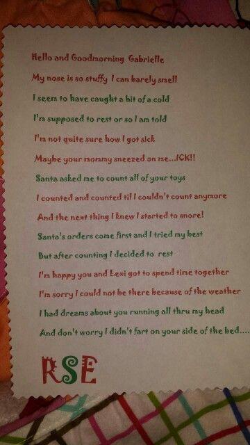 Letter from Reddy | Elf on the Shelf ! Reddy Silly Elfie! | Pinterest