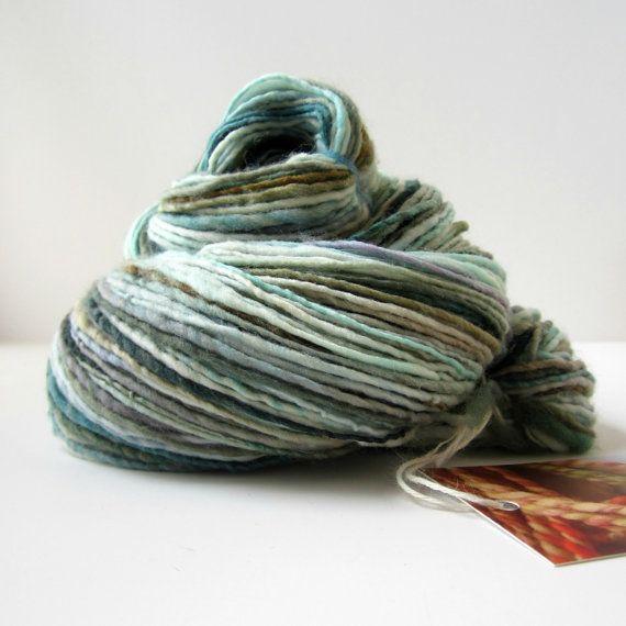 Handspun Yarn : RESERVED for BabyBlissProps Handspun Yarn Merino Wool, Single Ply, 234 ...