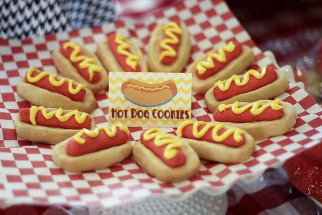 Hot Dog Cookies | My Kids' Birthday Parties | Pinterest