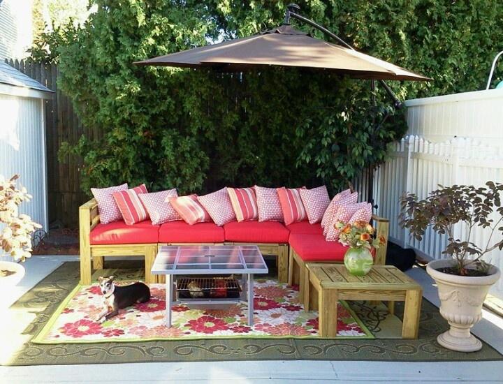 Pallet patio furniture misc pinterest