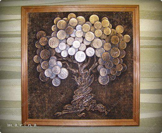 Картина с монетами своими руками мастер класс