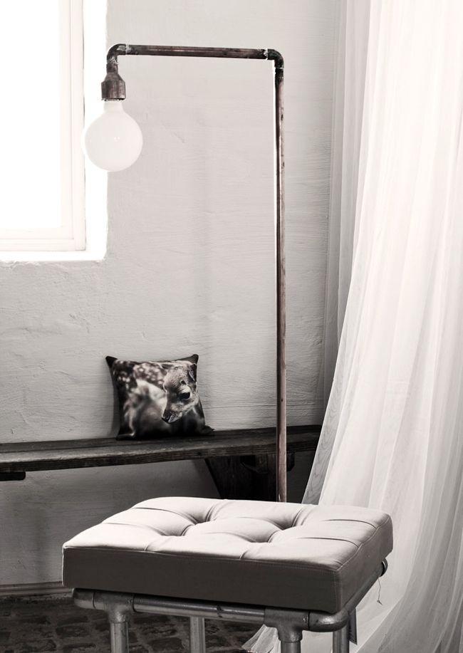 Diy Copper Pipe Floor Lamp Home Lamp Pinterest