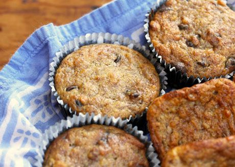 Costa Rican banana nut muffins, with or without chocolate chips