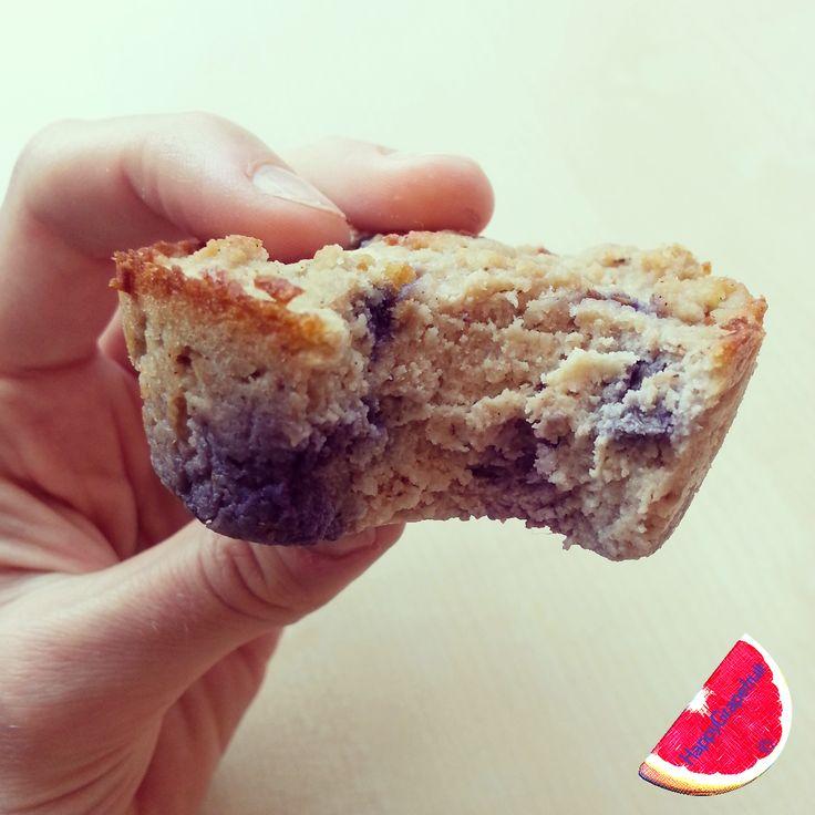 Blueberry ricotta almond protein muffins ♥♥♥