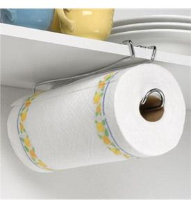 Mount your paper towels underneath a shelf for convienant storage with the Shelf Mounted Paper Towel Holder.