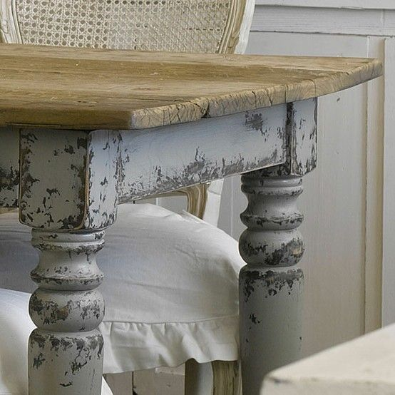 farmhouse table pretty gray by joann shabby chic