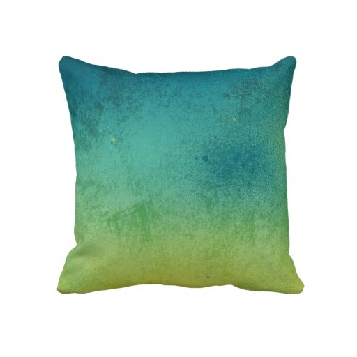 Blue & Green Gradient Throw Pillow