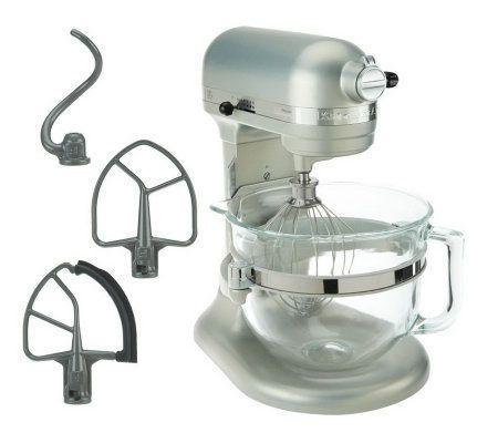 kitchenaid kitchenaid mixer with glass bowl