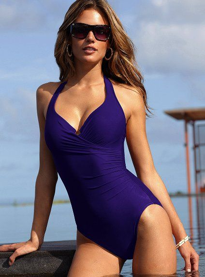 6. The oh so perfect bathing suit - Firm Control Shaping Halter One-piece - Magicsuit® - Victoria's Secret - #PassportToFashion @MapleviewCentre.