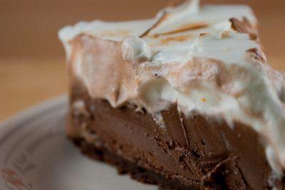 Mexican Chocolate Ice Cream Cake With Orange Meringue ...