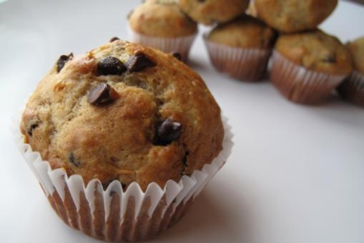 Banana muffins..good with or without the choc chips...husband approved