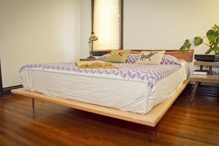 Bed platform diy - Hairpin Legs Bed Diy Diy Pinterest