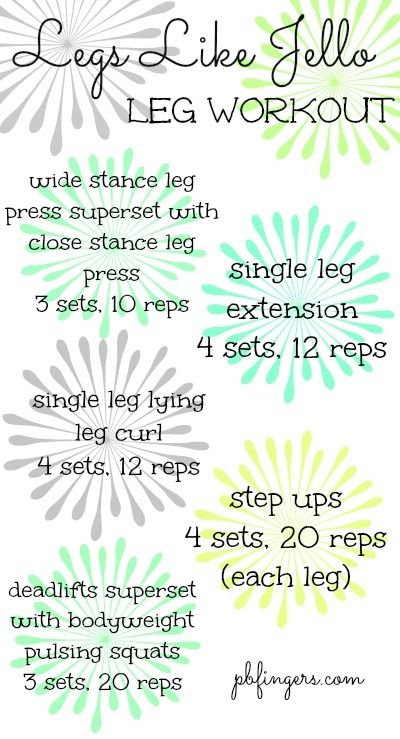 Legs Like Jello Leg Workout