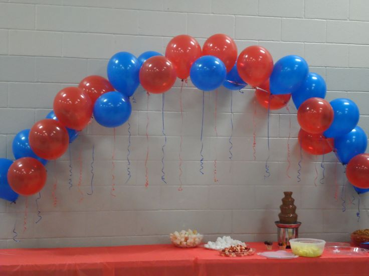 Arch from a party store balloon arch decorating strip super easy
