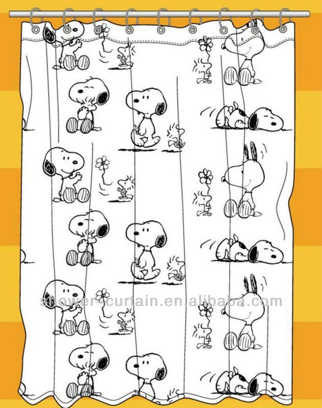 Curtains Ideas snoopy shower curtain : Dog Shower Curtain Snopy Bathroom Curtain - Buy Dog Shower Curtain,Do ...