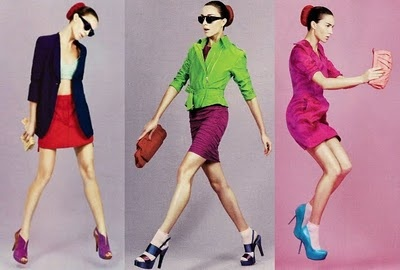 Color Blocking in Marie Claire at www.crystalblossoms.blogspot.com
