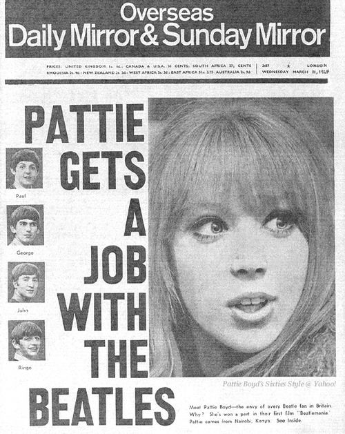 Pattie gets a job with the Beatles