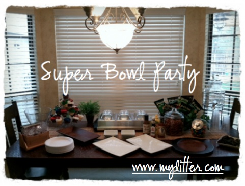 Super Bowl Table Decoration Tablescape Party Ideas