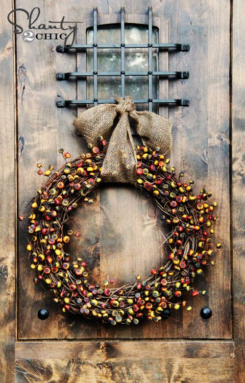Easy DIY Fall Berry Wreath!