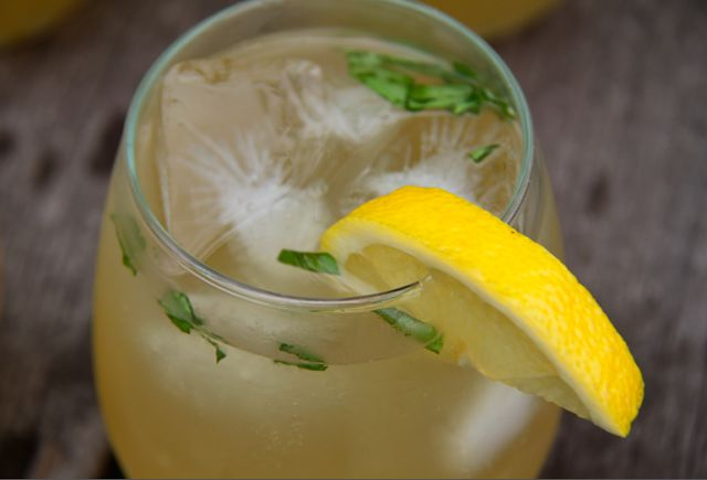 Honey Sweetened Basil Lemonade (Guest Post) by A Finn In The Kitchen
