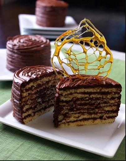 Amaretto Dobos Torte | Desserts | Pinterest