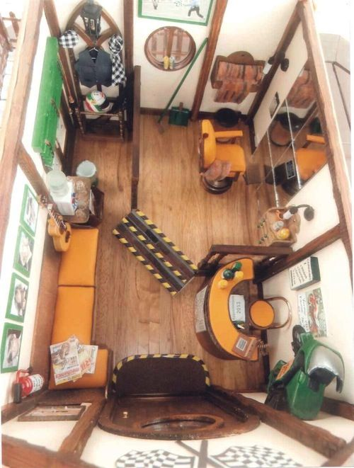 Janice Curtis: Race Trim Barber Shop Dollhouse shops Pinterest
