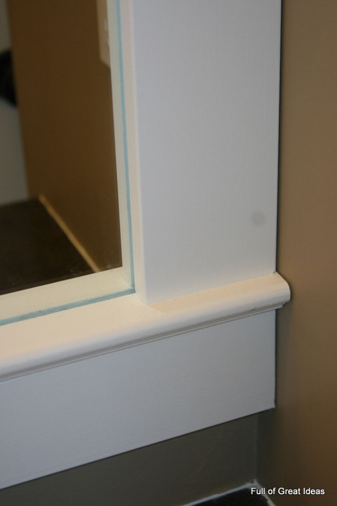 How To Upgrade Your Builder Grade Mirror Frame It Cost Us Around