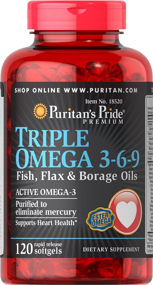 Triple omega 3 6 9 health personal care pinterest for Flaxseed oil or fish oil