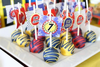 Cake Pops-Spiderman Birthday Party