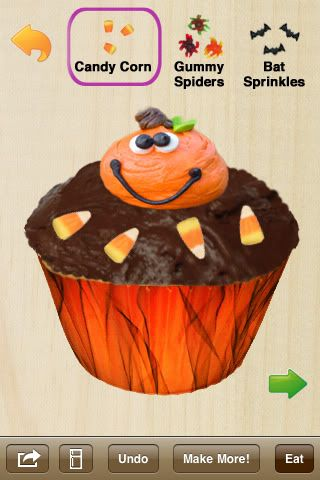 Halloween edition of the ever popular Cupcakes! App.