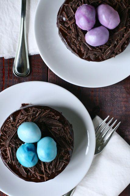 Truffle Egg Ganache Tortes #easter | Food | Pinterest