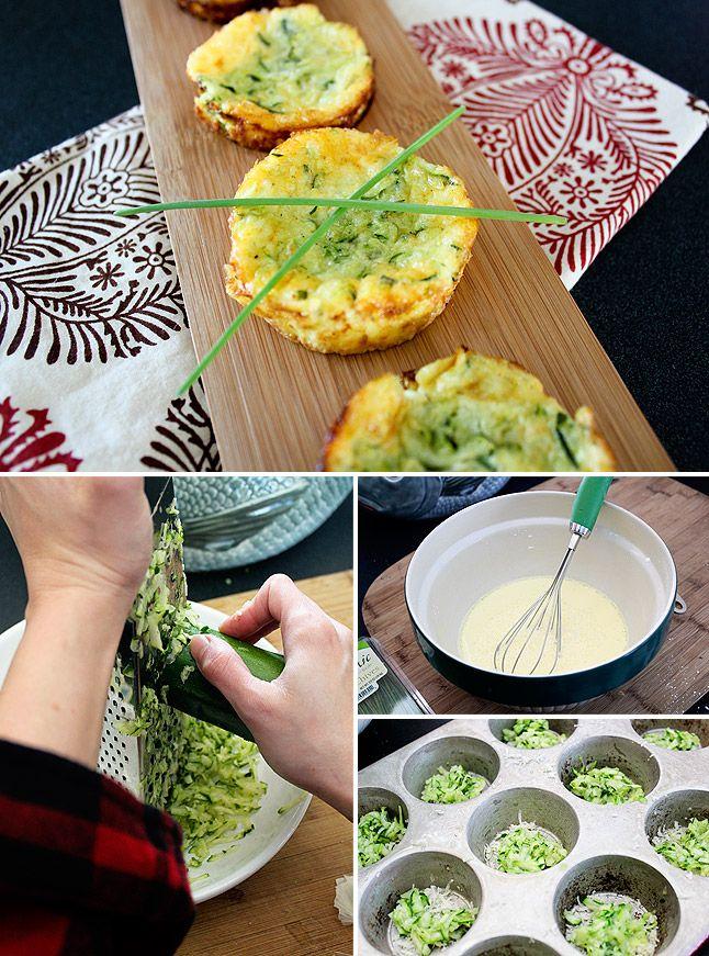 Crustless Zucchini Mini Quiches