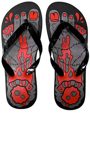 Summer time! If you're going to walk around in the heat like the un-dead you might as well feel more like it with these ZOMBIE FLIP FLOPS!! So cool!    $12.00
