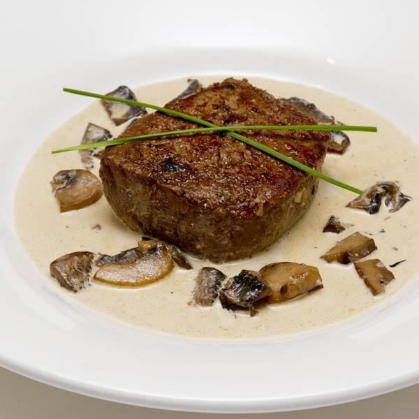 Steak Tenderloin In A Pink Peppercorn Sauce Recipe — Dishmaps