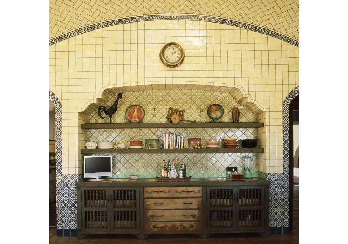 Spanish Colonial Kitchen Cabinets Detail Old World Mediterranean