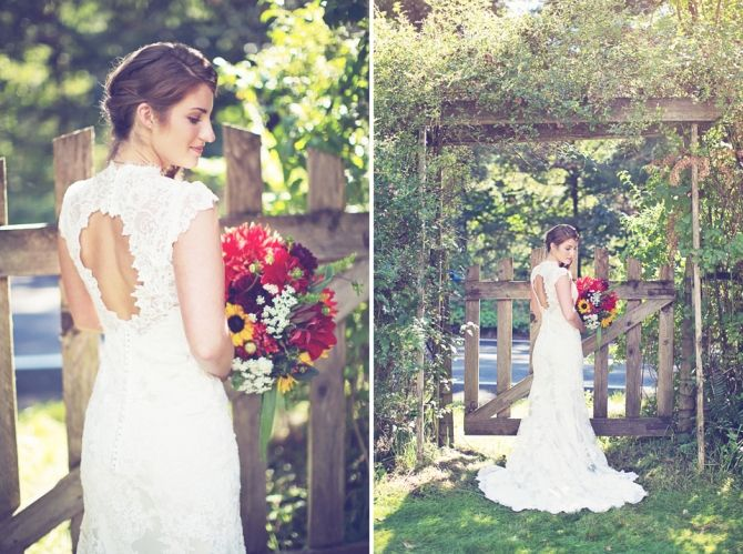 Beautiful outdoor wedding.