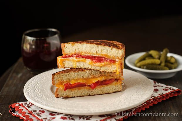 Grilled Roasted Red Pepper And Ham Sandwich Recipe — Dishmaps