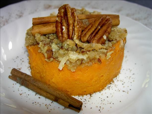 Sweet potato souffle. Made this at Thanksgiving and I'm sure I will ...