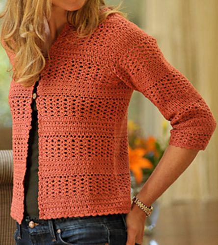 Summer Crochet Cardigan pattern by Therese Chynoweth