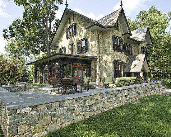 Gothic Victorian stone house | Dream Homes | Pinterest