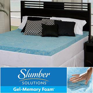 Slumber Solutions Gel 4 inch Memory Foam Mattress Topper