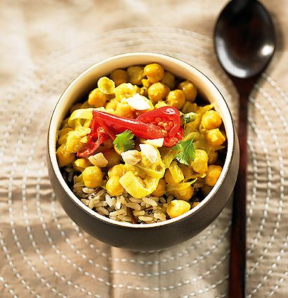 Chickpea and cashew curry | Veggie meals | Pinterest
