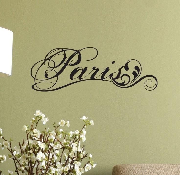 Paris Fancy Elegant Wall Decal Sticker