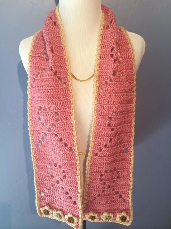 Free Crochet Pattern For Breast Cancer Awareness Scarf : Crochet Breast Cancer Awareness Scarf