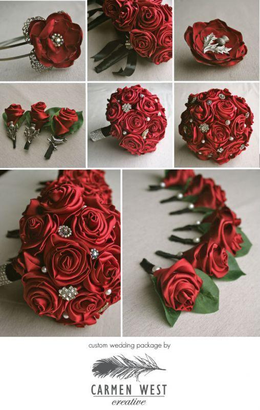 DIY Brooch Amp Ribbon Flower Bouquet