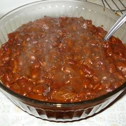 Pat's Baked Beans 1 can butter beans instead of garbonzos, decrease ...